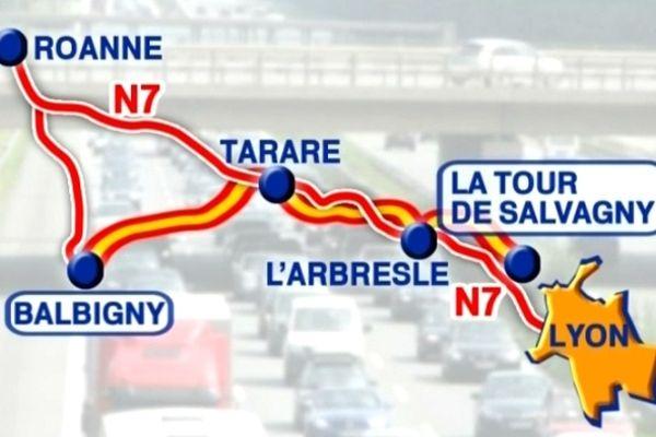 Les 50 kilomètres séparant Balbigny (42) de la Tour-de-Salvagny (69) seront ouverts à la circulation dès le 21 janvier.