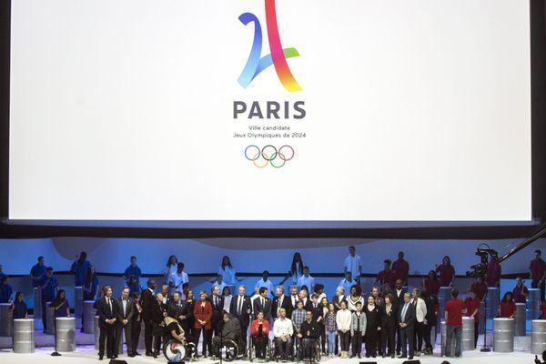 """La présentation de """"Paris 2024"""", en 2015."""