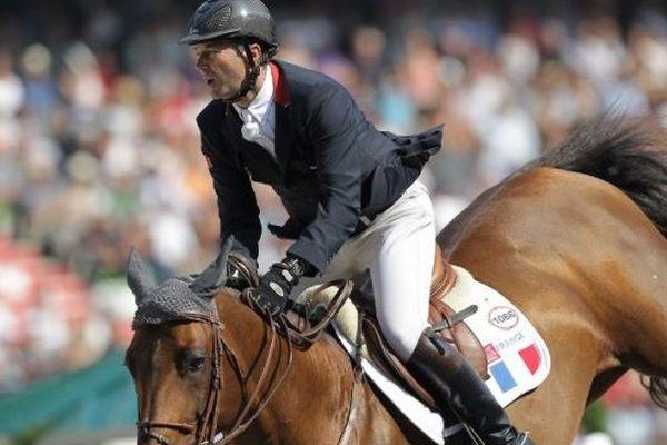 Le cavalier Bas-normand Patrice Delaveau a décroché la médaille d'argent du CSO