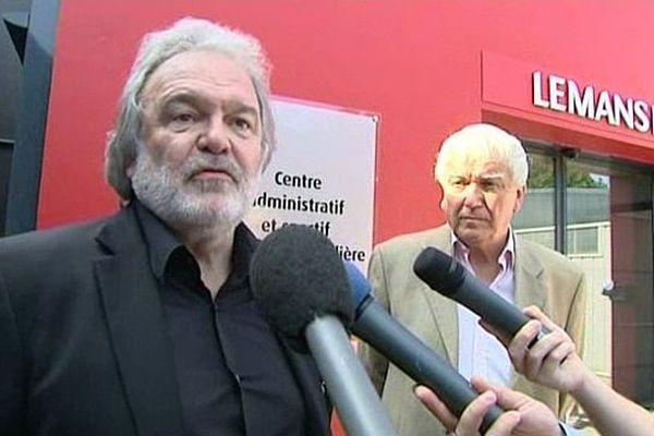 Henri Legarda, le Président du Mans FC, et Jean-Claude Boulard, le maire du Mans