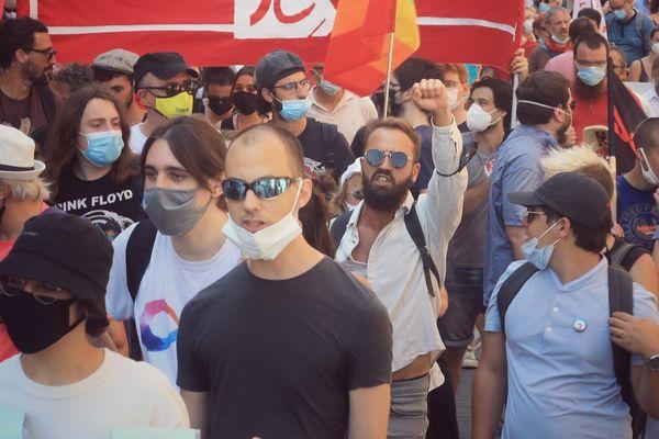Des manifestants ont défilé dans 140 villes en France, ce 12 juin 2021.