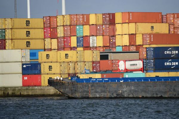 Illustration du port d'Anvers.