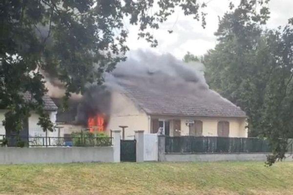 Incendie d'un pavillon dans le quartier de Beaubreuil à Limoges