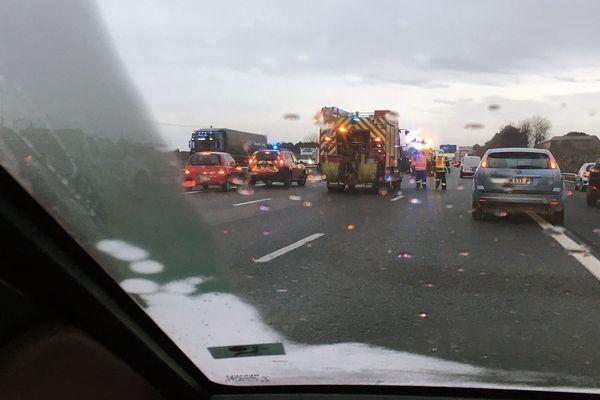 L'accident a généré plusieurs kilomètres de bouchons