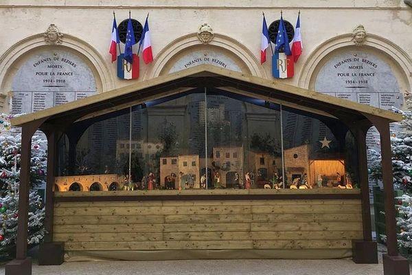 Béziers (Hérault) - la crèche mobile de la municipalité - décembre 2018.