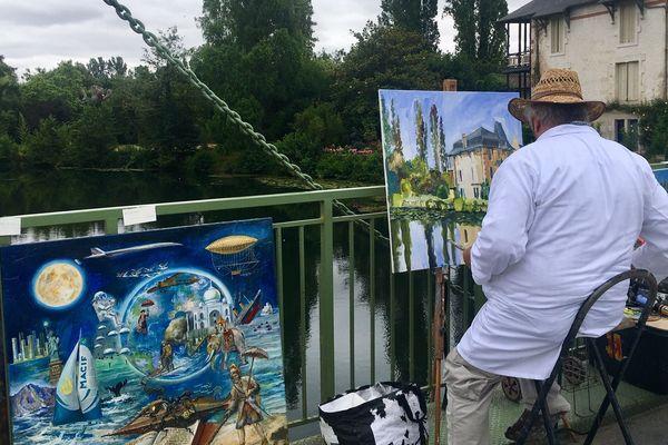 Ils sont venus nombreux pour participer au festival des peintres de Magné (79)