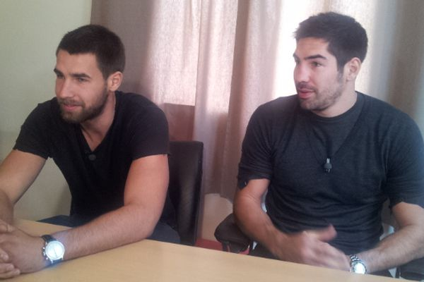 Montpellier : Nikola et Luka Karabatic en interview exclusive avec France 3 Languedoc-Roussillon - 16 octobre 2012.