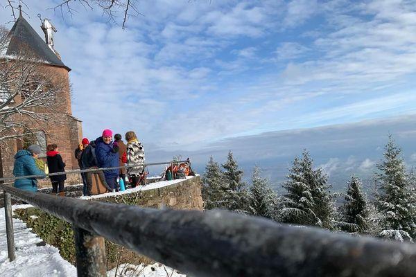 La vue a inspiré les touristes d'Alsace.