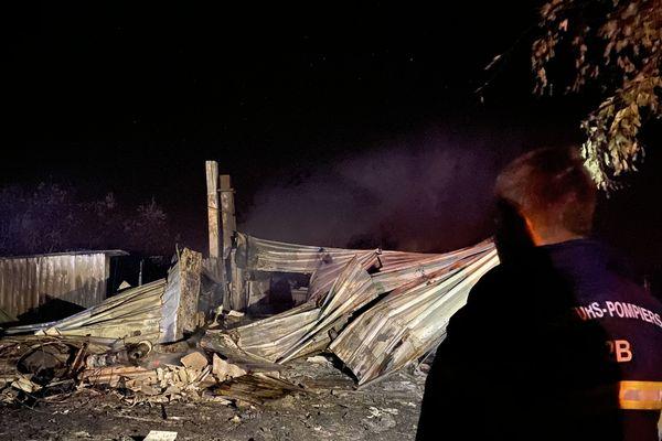 La structure est entièrement détruite.