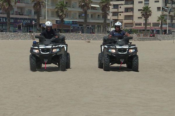 Des quads sur les plages du Canet cet été.