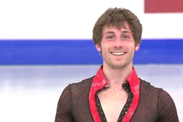 Le sourire de Brian Joubert après son programme libre