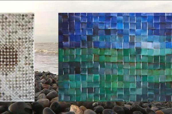 Quand les déchets se transforment en art ...Sophie Hélène ne manque pas d'idées pour sensibiliser le public à l'environnement