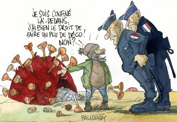 Le coronavirus, source quotidienne d'inspiration pour le dessinateur de presse Pierre Ballouhey