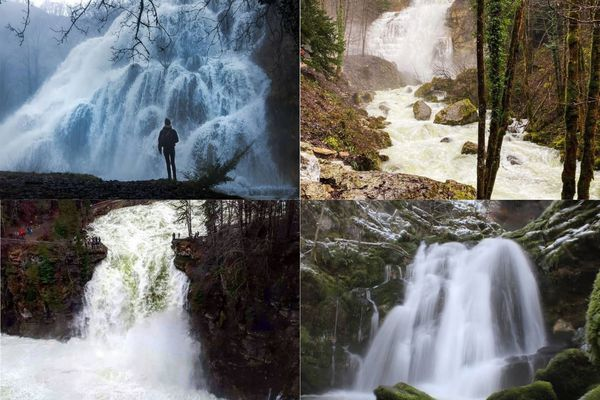 Les cascades de Franche-Comté sont pleines de vie en hiver.