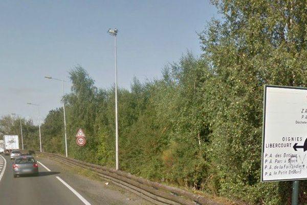 L'accident a eu lieu sur la D917 à Libercourt près de la sortie Carvin-Libercourt de l'A1.