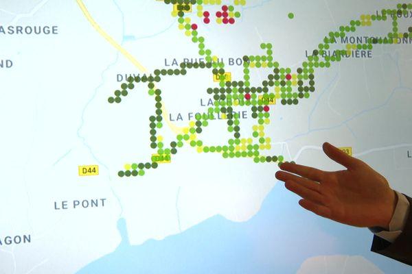 Ici, la couverture mobile du secteur de Tourville-sur-Sienne