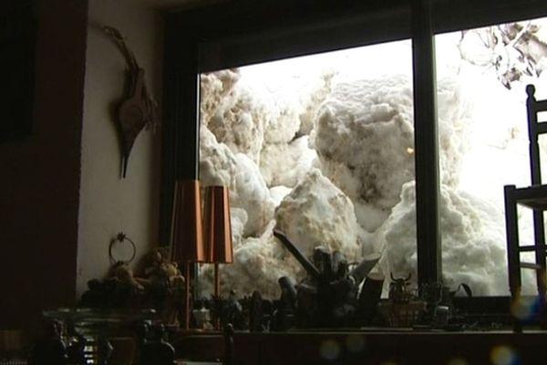 Des blocs de neige impressionnants