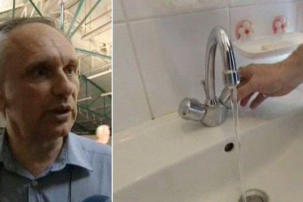 Franck Briffaut n'en a pas tout à fait fini avec les problèmes d'eau dans sa commune, mais ça avance.