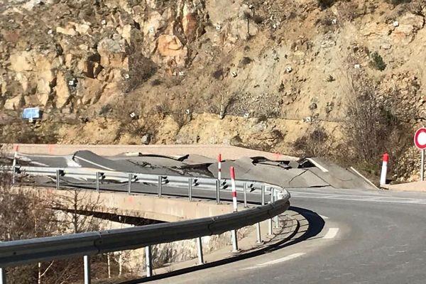 La Route Nationale 116 ne rouvrira pas avant trois semaines - 6 février 2020