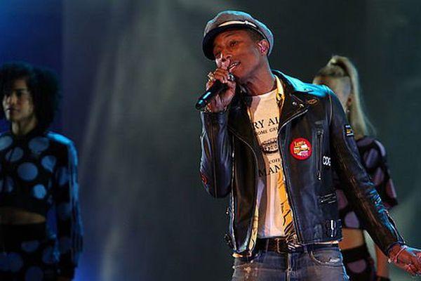 Pharrell Williams à Vienne le 23 juin 2015