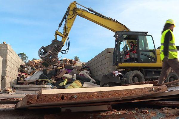 Collecte des ordures ménagères dans l'ouest du Gard en décembre 2019