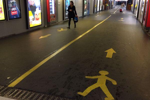 Dans le souterrain de la gare de Nantes