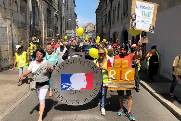 80 personnes environ ont défilé dans les rues de la capitale comtoise.
