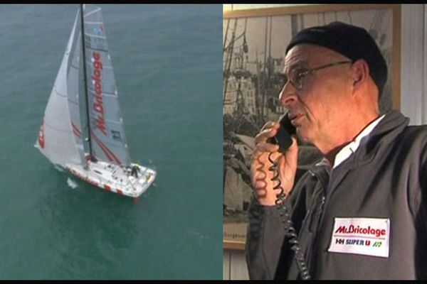 Chaque jour, Jean-Pierre Alluin appelle son fils, le capitaine du Marité, engagé dans la transat Jacques Vabre