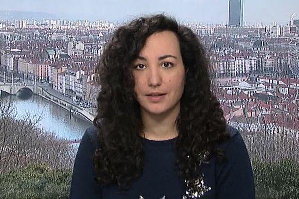Florence Porcel, en duplex depuis Lyon, le 6 février 2018