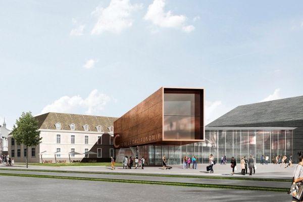 Voici à quoi ressemblera l'entrée du pôle culture de la Cité de la gastronomie, à Dijon.