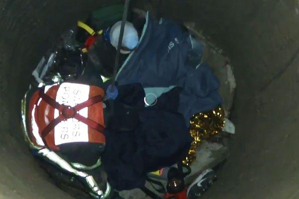 Les pompiers du GRIMP ont sauvé les deux victimes tombées au fond du puits