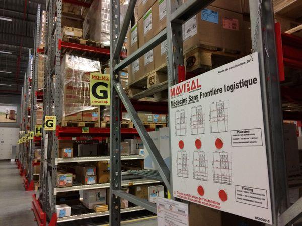 L'un des entrepôts de MSF Logistique à Mérignac d'où sont expédiées chaque année plus de 4000 tonnes de matériel dans le monde