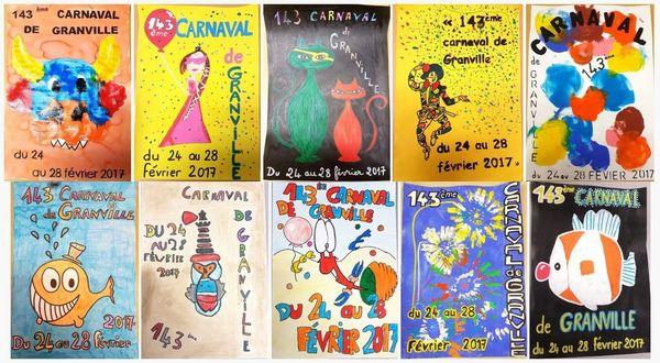 Les 10 propositions en lice pour le concours d'affiches du carnaval de Granville 2017