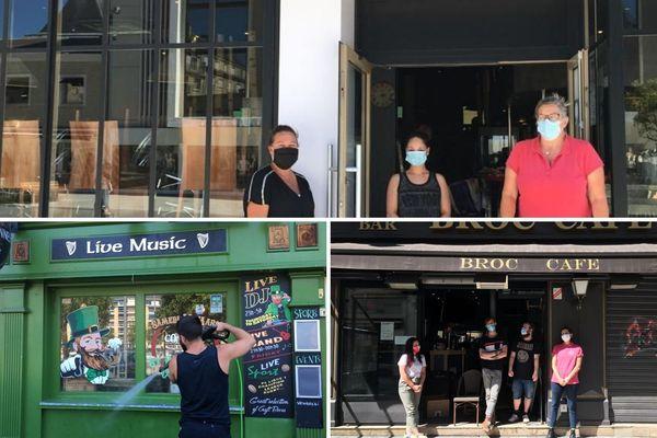 Le O'Donnell's, les Touristes et le Broc Café. Ils ont travaillé pour mieux accueillir leurs clients demain, 2 juin.