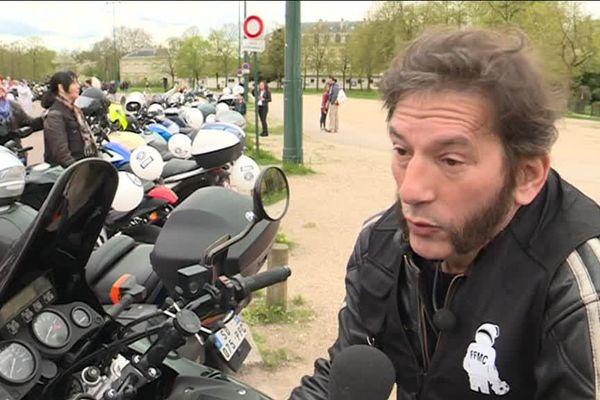 Jean-Marc Belotti, coordinateur de la Fédération française des motards en colère (FFMC).