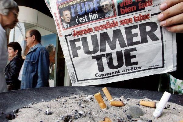 Journée mondiale sans tabac de 2007 - photo Frederick Florin - Afp
