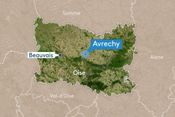 Trois personnes ont été blessées dans un choc frontal entre deux véhicules, lundi 6 mai, sur la RD 916 entre Clermont et Saint-Just (Oise)