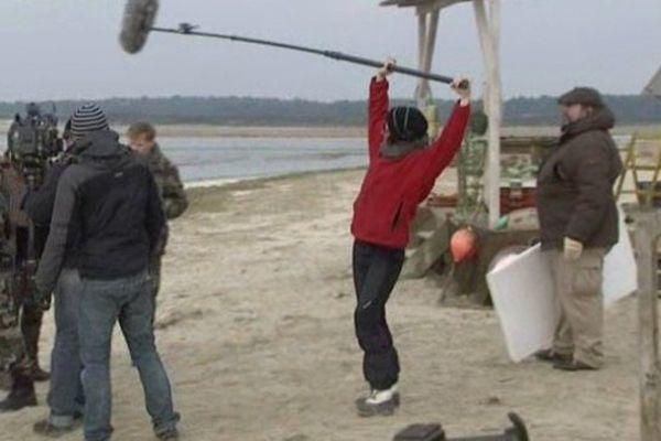 """Tournage du film """"le vagabond de la Baie de Somme"""" au Crotoy"""