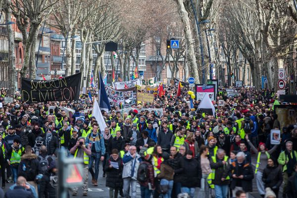 """Les """"gilets jaunes"""" ont prévu d'organiser une 12e manifestation à Toulouse ce samedi."""