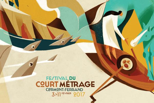 L'affiche officielle du 39ème Festival International du Court Métrage de Clermont-Ferrand.