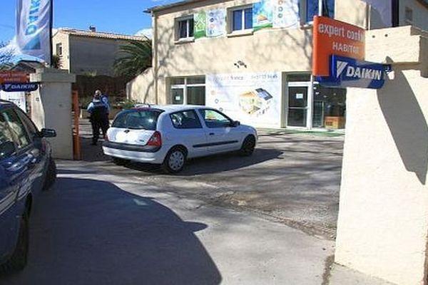 Fabrègues (Hérault) - lieu de l'arrestation du tireur présumé de la fusillade de la clinique Saint-Jean - 10 mars 2016.