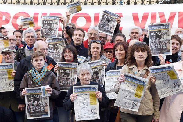 """Les salariés du journal, soutenus par les lecteurs, mobilisés pour que """"vive La marseillaise"""""""