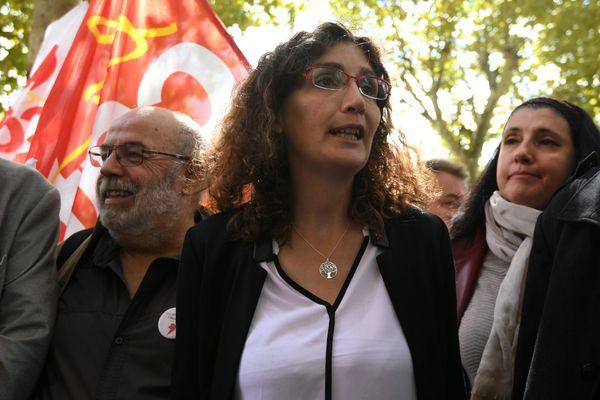 Céline Boussié en septembre 2017 devant le tribunal correctionnel de Toulouse.