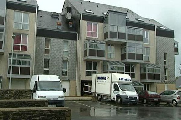 L'immeuble qui va accueillir les demandeurs d'asile à Equeurdreville, dans la Manche