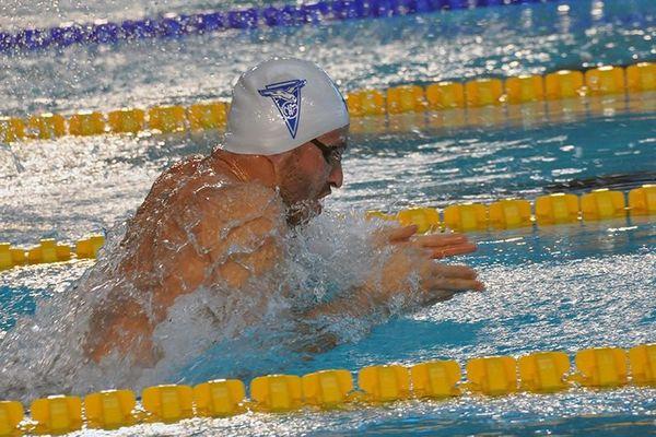 Giacomo Pérez Dortona, 1er au 50 m brasse.