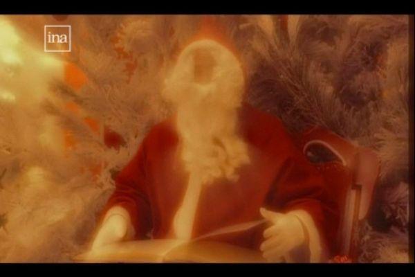 Le Père Noël présentant le journal sur France 3 ! C'était le 23 décembre 2005...