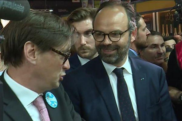 Sébastien Windsor et le Premier ministre Edouard Philippe au Salon International de l'Agriculture 2019