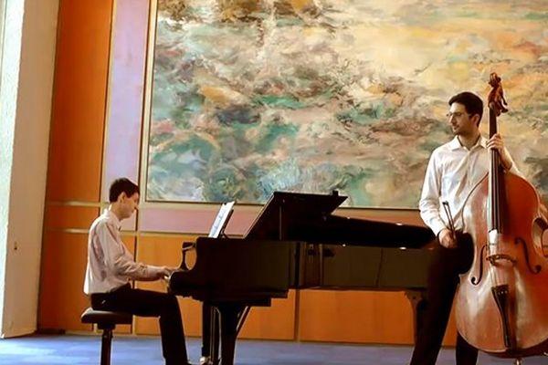 Récital classique pour piano et contrebasse avec Julien Mathias et Jean-Baptiste Mathulin diplômés du CNSM de Lyon.