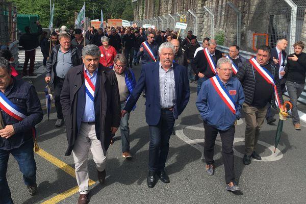 Des élus ont rejoint le cortège à Pau.