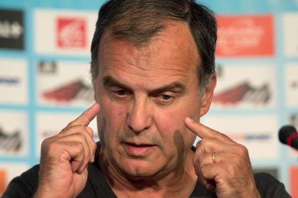 Marcelo Bielsa en conférence de presse le jeudi 7 août.